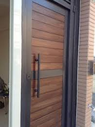 modern front door designs contemporary front door of stained wood and rolled steel home