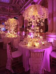 lighted centerpieces for wedding reception enchanting wedding night at the plaza hotel new york city orchid