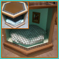 dog beds made out of end tables upcycled vintage end table made into side table dog bed by dog beds