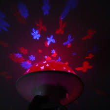creative moonlight mushroom multicolored bedroom light projector