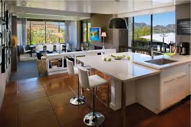 kitchen living room modern open floor living room kitchen and