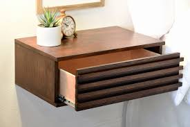 light wood contemporary night stands nightstand floating nightstand with drawer unique decoration and