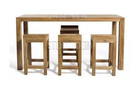 wooden high bar table jacob solid oak wood high console table bar table dta452 hk