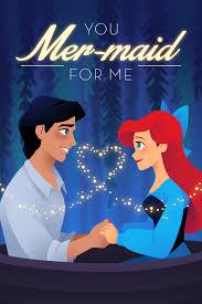 Disney Valentine Memes - mermaid puns