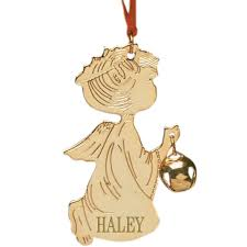 personalized angel ornament brass christmas ornament miles kimball