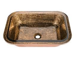 jsg oceana cobalt copper oasis rectangle undermount sink oc 007
