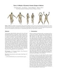 dyna a model of dynamic human shape in motion pdf download
