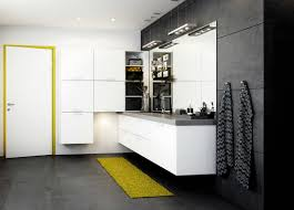 appealing black and yellow bathroom decor cool white applied for
