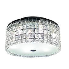 glam cobalt 3 light brushed chrome ceiling light by hampton bay