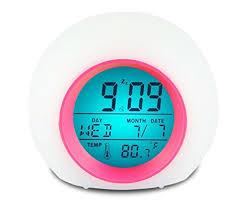 night light alarm clock cloris alarm clock for kids wake up light alarm clock digital alarm