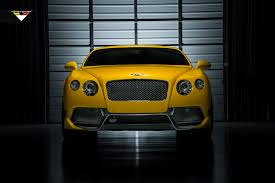 bentley yellow yellow bentley continental gt br 10rs by vorsteiner autoevolution