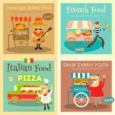 posters cuisine food festival posters set stock vector illustration of