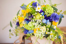 blue flowers for wedding bristol wedding flowers yellow and blue wedding the