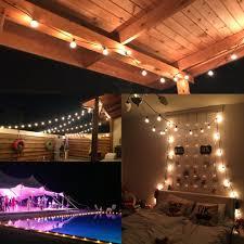 patio lights g40 globe party christmas string light warm white