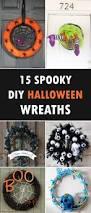 halloween wreaths diy 15 spooky diy halloween wreaths for your front door