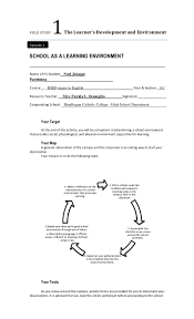 Pictograph Worksheet Fs 1 Episode 1 As A Learning Environment