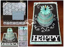 up cake card blue and brown