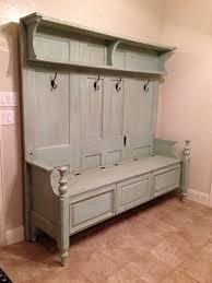 mudroom corner coat rack and bench oak hallway storage bench