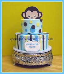 monkey baby shower cake flickriver photoset baby shower cakes by graceful cake creations