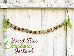 merry wood slice garland fynes designs fynes designs