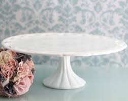 milk glass cake stand vintage wedding cake stand pedestal