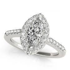 flat engagement rings 1 3 carat flat sphere marquise diamond sidestones engagement ring