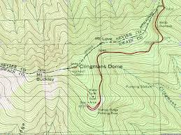 Smoky Mountain National Park Map American Travel Journal Clingmans Dome Trail Great Smoky