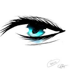 eye with teardrop by monstergirlxd on deviantart