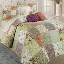 Bedspread And Curtain Sets Blooming Prairie Patchwork Bedspread Bedding Set