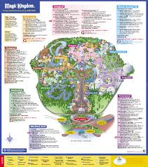 Florida Orlando Map by Disneys Magic Kingdom Map Disney039s Magic Kingdom Orlando Fl