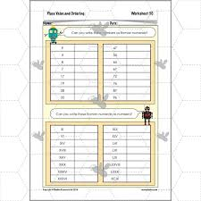 place value and ordering roman numerals planbee