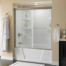 bathtubs portman 60 in x 58 1 8 in semi frameless sliding