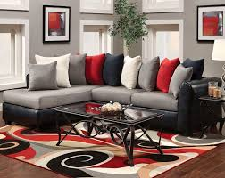 Black Living Room Rugs Black And Red Sitting Room Padded Cushions Gray Fur Rug Recessed