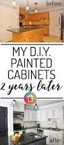 How To Paint Your Kitchen Cabinets by How U0027s It Holding Up Diy Painted Kitchen Cabinets Update