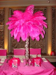 Ostrich Feathers For Centerpieces by Ornaments Inside Glass Vase With Feathers On Top This Could Look