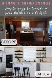 kitchen cabinet makeover ideas diy diy kitchen makeover ideas that will transform your kitchen
