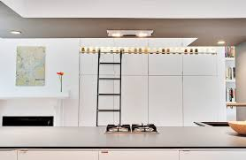 Ceiling Bookshelves by Library Ladder Kitchen Contemporary With Drop Ceiling Bookshelves