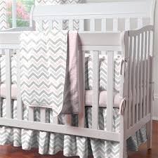 Grey Chevron Crib Bedding Set Pink And Gray Chevron 3 Piece Mini Crib Bedding Set Carousel Designs