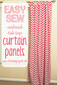 Pink Chevron Curtains Stitched By Crystal Tutorial Easy Sew Curtains