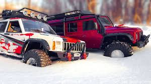 jeep cherokee baja rc trucks off road snow adventures traxxas trx4 and axial scx10 ii