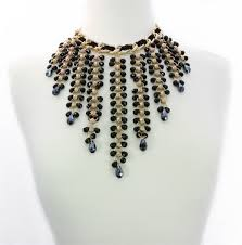 gold black bead necklace images Bold black gold beaded statement necklace jpg