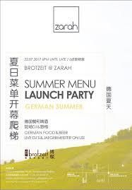 german cuisine menu german summer summer menu launch brotzeit café zarah
