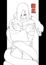 akatsuki coloring pages orochimaru lines by roggles on deviantart
