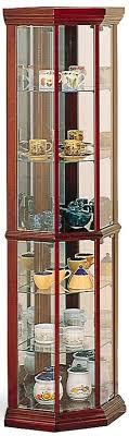 how to arrange a corner china cabinet honia glass corner curio cabinet