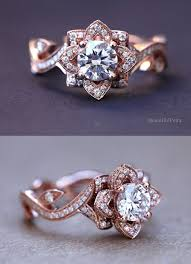 engagement rose rings images Elegant rose diamond rings flower lotus rose diamond engagement jpg