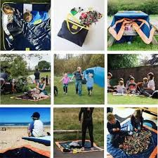 Outdoor Picnic Rug Multi Functional Storage Bag Outdoor Picnic Blanket Waterproof