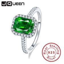 emerald silver rings images Jqueen 3 6ct nano emerald solid 925 sterling silver rings for jpg