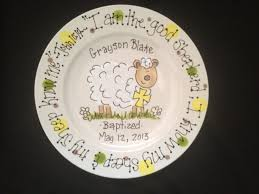 personalized baby plate painted personalized baby plate with by cutiepatooties1