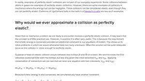 elastic and inelastic collisions video khan academy