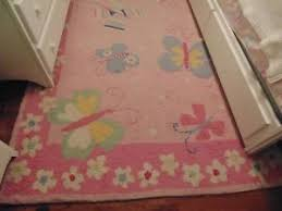 Comenity Pottery Barn Kids Extremely Rare Pottery Barn Kids Sophie Butterfly 5x8 Wool Rug Ebay